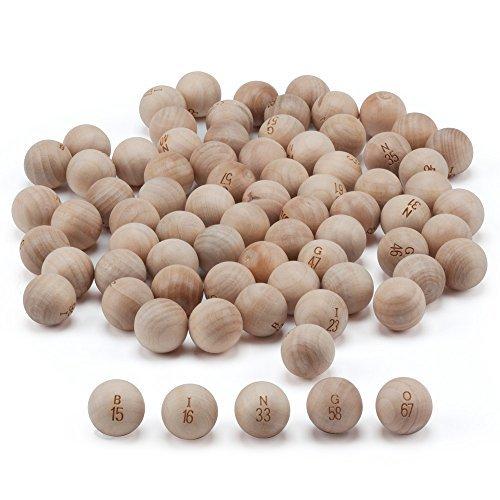 GSEゲーム&スポーツ7/8インチ木製Bingo Balls (# 1–75、木製交換Bingo Ballセット。For Small Bingo Cageの商品画像