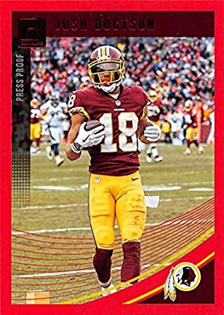 99b61e152bb 2018 Donruss Press Proof Red Football  293 Josh Doctson Washington Redskins