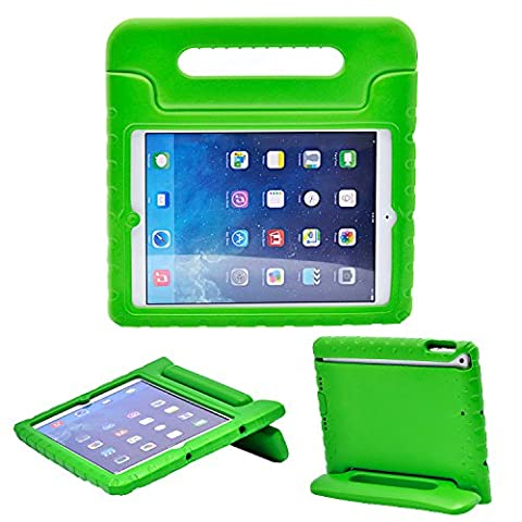 Apple iPad Air/iPad 5 Case - Bolete Kids Shock Proof Convertible Handle Light Weight Super Protection Convertable Stand Cover Case for Apple iPad Air/iPad 5 Tablet - Apple Coral Handle