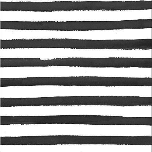 Black Licorice Dots and Stripes Napkins, 48 ct
