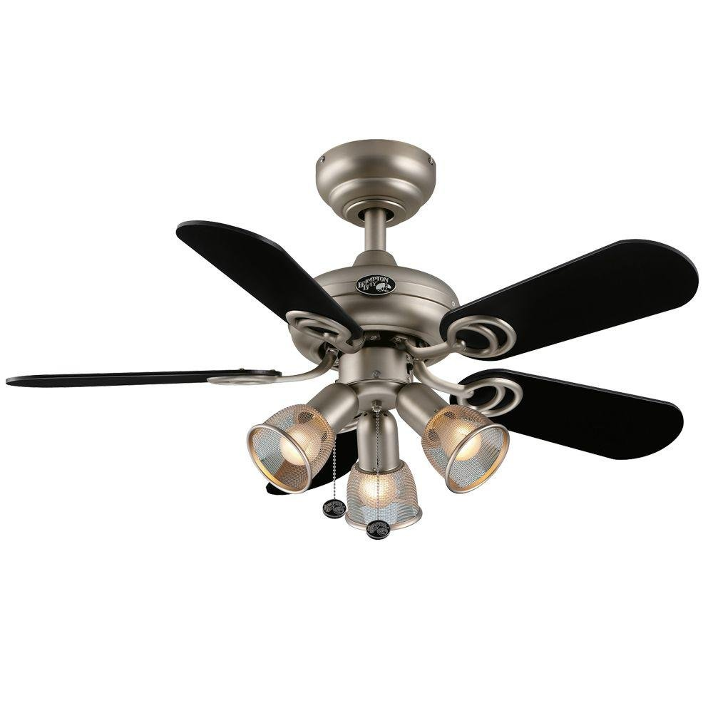 Hampton Bay San Marino In Brushed Steel Ceiling Fan Amazoncom - Brushed steel kitchen ceiling lights