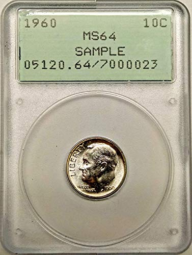 1960 Roosevelt Dime Sample Dime MS-64 PCGS