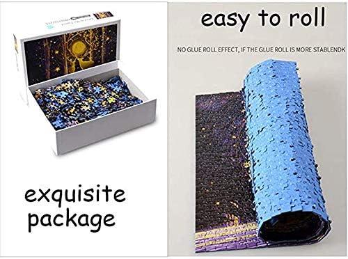 1000 stukjes Puzzel for Volwassenen en tieners, Paper Puzzles Premium Quality gerecycled materiaal puzzel - intense kleuren en High Definition Printing - Romantische Rainy Season