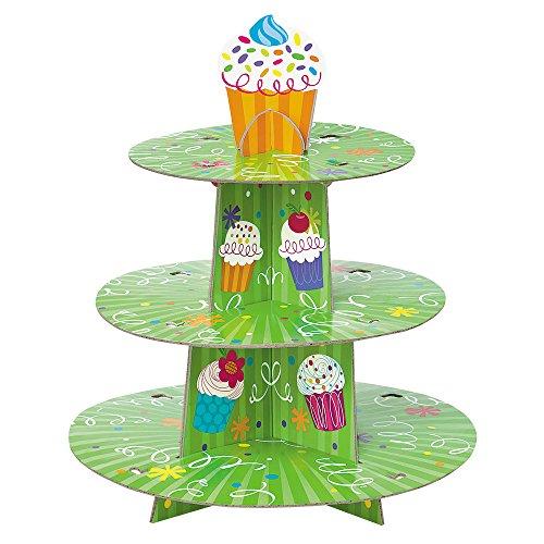 Cardboard Cupcake Party Cupcake Stand -