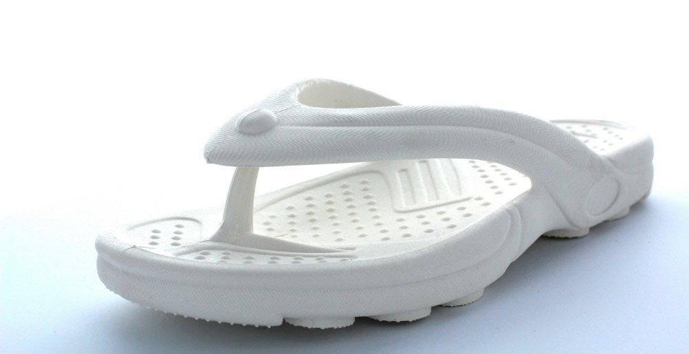 Sandak Sandals - Paloma Thong Flip Flop Style Sandal (US 7   Mex 24, White)