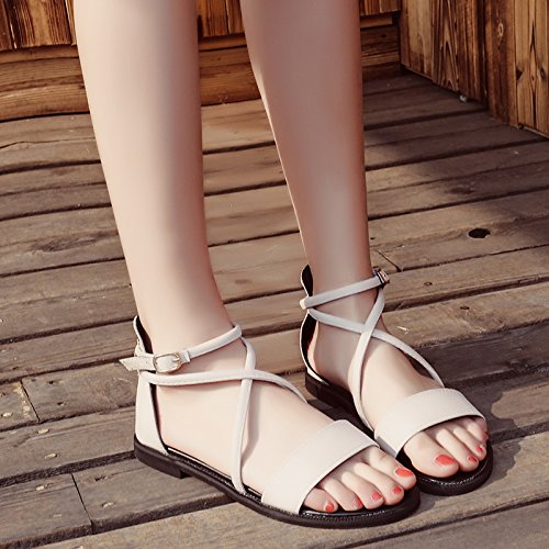 estate retrò cinturino sandali sandali a moda Onorevoli cross YMFIE p1w5Ap