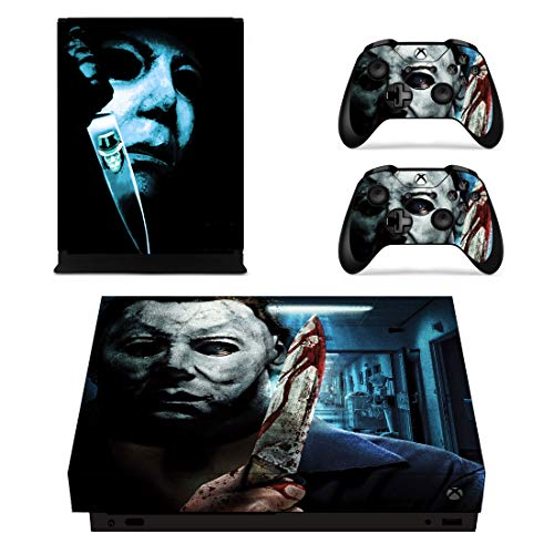 Decal Moments Xbox One X Console Controllers Skin Set Vinyl Skin Sticker Decals Cover for Xbox One X(XB1 X) Console Halloween Horror