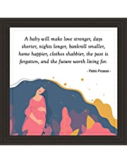Great for New Moms | 7x7 Tile Artwork for Pregnancy Announcement or Baby Shower | Inspirational Message for Mothers | Gift for Boho Nursery | Cadres décoratifs muraux