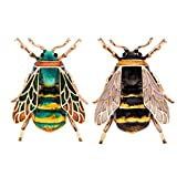 W WOOGGE Fashion Natural Insect Animal Enamel Brooches Bee Bumble Bee Spider Alloy Pins Vintage Jewelry for Women