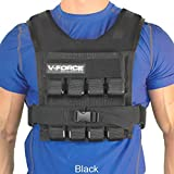 V-Force 40 Lb Black Weighted Vest - Made in USA - Weight Loss and Fitness Training
