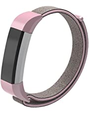 Futurepast Color Woven Nylon Breathable Strap Wristband with Metal Buckle for Fitbit Ace Kids Smart Watch Adjustable for Kids