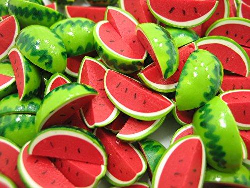 Dollhouse Miniature Food Lot 10 Fruit Slice Watermelon Supply Deco 6371