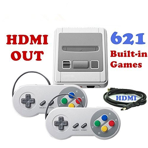 Installed System (Classic Game Console - Retro Video Games Super HDMI Mini NES Console, 8-Bit Built-in 621 Games,Two Controller)