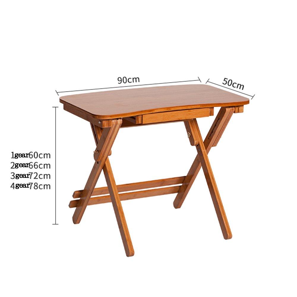 YNN 折り畳みテーブルデスクは竹テーブルを持ち上げることができます (サイズ さいず : 90*50cm) B07F6CXYNN90*50cm
