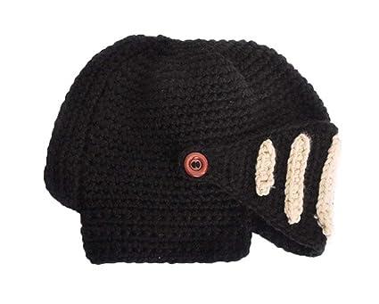 f162ef8109f Leegoal Roman Knight Helmet Visor Cosplay Knit Beanie Hat Cap Wind Mask  FFH088BLK