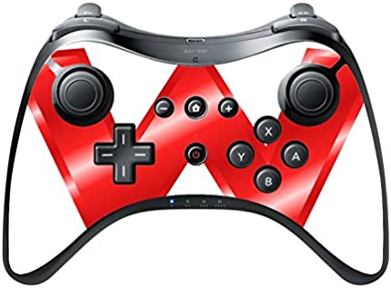 W red Wii U Pro Controller Vinyl Decal Sticker Skin by Diamond Printing
