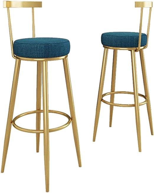2Pcs Swivel Bar Stools Chrome Footrest Velvet Fabric Cushion Seat Home Pub