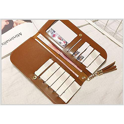 Green Brown Holder Long Retro Lovely Leather rabbit Clutch Multi Color Purse Pendant Women Fold Card Tassel wFq6UR
