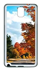 Country Road Custom Design Samsung Galaxy Note 3 / Note III/ N9000 Case Cover - Tpu - White