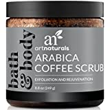 ArtNaturals Arabica Coffee Body Scrub (8.8 Oz / 249g) – The Most Powerful Remedy for Varicose Veins, Cellulite, and Stretch Marks - Deep Skin Exfoliator That Promotes Cell Repair & Rejuvenation