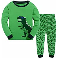 Tkala Boys Pajamas Children Clothes Set Dinosaur 100% Cotton Little Kids Pjs Sleepwear