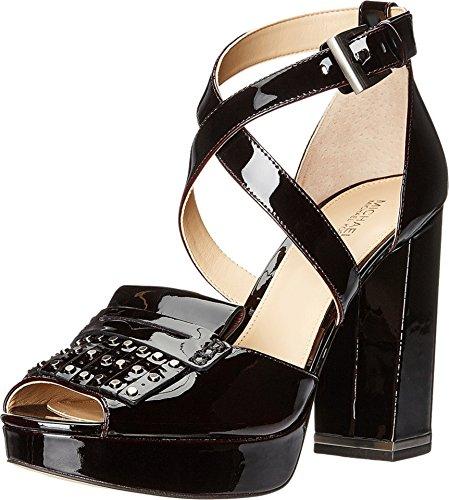 (Michael Michael Kors Women's Lindy Platform Plum Pull Up Patent Sandal 6 M)