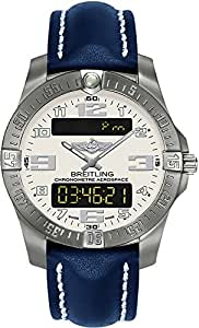 Breitling Professional Aerospace Evo Limited Edition Mens Watch w/ Blue Leather Strap