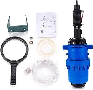 DOMINTY Water Powered Flow Dosing Pump, Fertilizer Injector Dispenser Proportioner Automatic Dosing 0.4-4% 4-30℃ for Drip Irrigation Fertilizer/Livestock