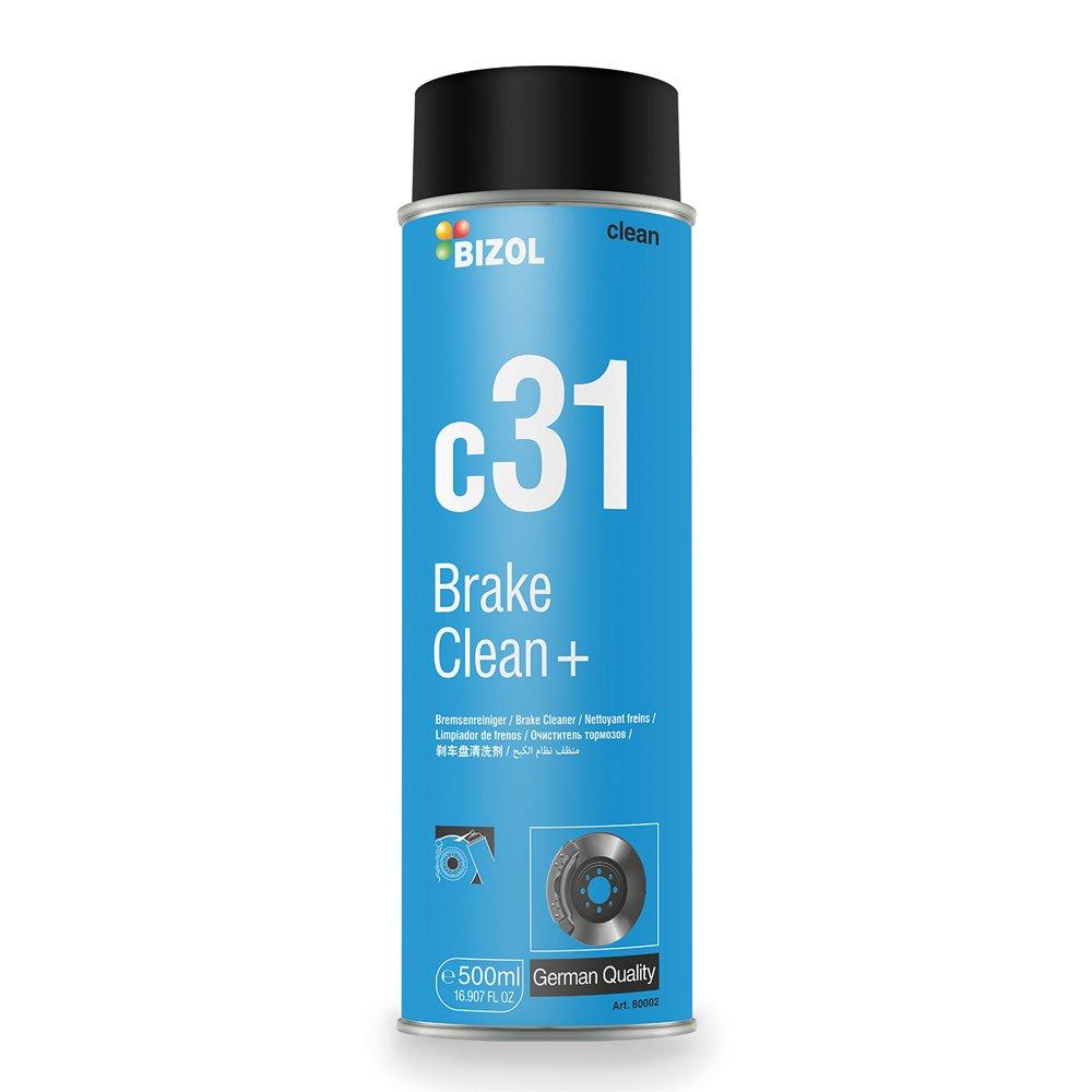 Bremsenreiniger | BIZOL Brake Clean+ c31|  500 ML | exzellente Fettlö se-Eigenschaften | schü tzt vor Korrosion BITA Trading GmbH A80002
