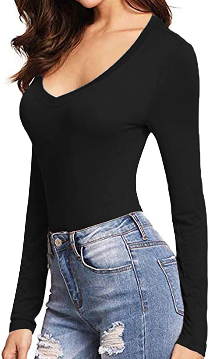 lang/ärmlig quadratischer Ausschnitt kurz/ärmelig MANGOPOP Damen-T-Shirt