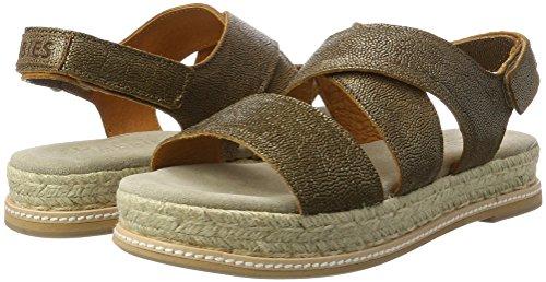 Shabbies Sandale Metallic Mit Fußbett, Sandalias para Mujer, Dorado (Old Gold), 39 EU Shabbies Amsterdam