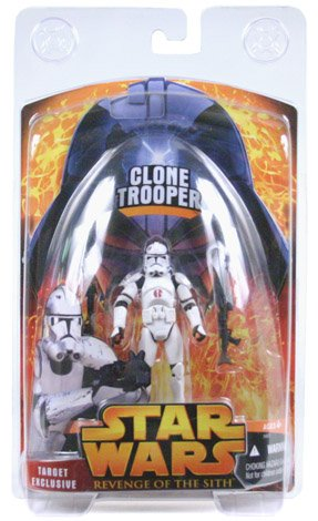 Star Wars Target Exclusive Clone Trooper Figure Revenge of the Sith