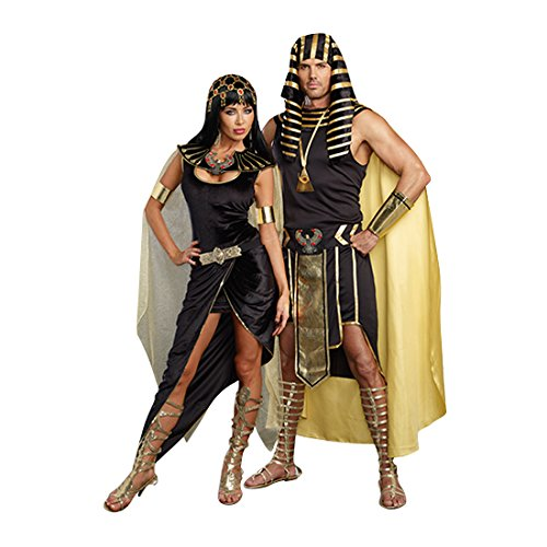 dadfc9c5574 Dreamgirl Women's Cleo Egyptian Queen Costume, Black, Small - Import ...