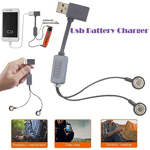 Price comparison product image MChoice Portable Universal Magnetic USB Battery Charger Powerbank for Li-ion Batteries