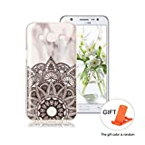 Case for Samsung Galaxy Grand Prime G530 Wanxida Marble Design TPU Silicone Cover Ultra Thin Slim Phone Skin Soft Smooth Shell Shockproof Bumper Lightweight Protective Case-Mandala flower marble