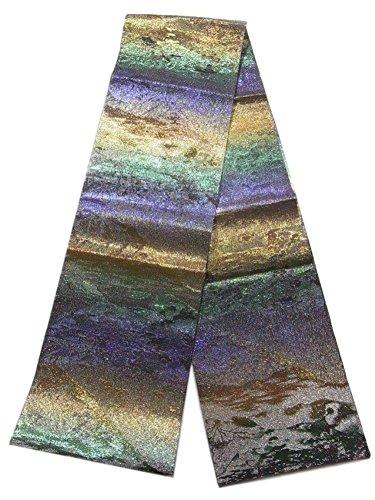 エジプト累計アドバイスリサイクル 本袋帯  織の宝石 佐波理綴 黒沢景定 正絹