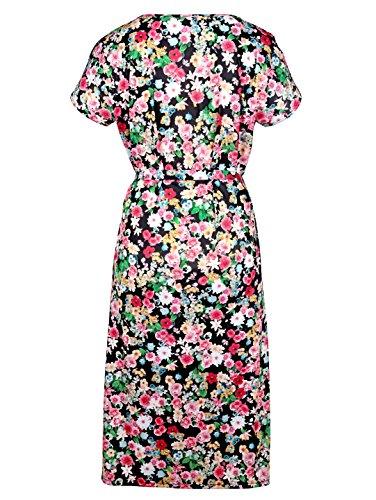 Blumenmuster mit m Gartenkleid Damen collection Schwarz wxqpp6gnSP