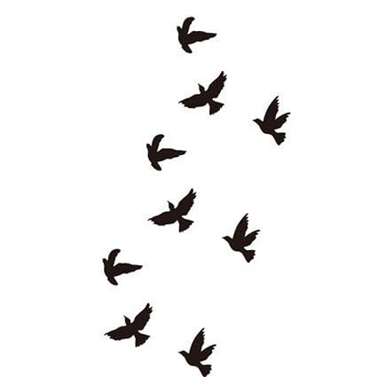 Just Fox – Tatuajes temporales pájaro Tempo rary Cuerpo sintética ...