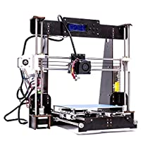 ZR-Printing A8-W5 3d Printer DIY Wood Frame High Precision LCD Screen Desktop 3d Printer Kit With 1.75mm ABS/PLA Filament, Construction Measurement 220 220 240 mm from BobsCNC