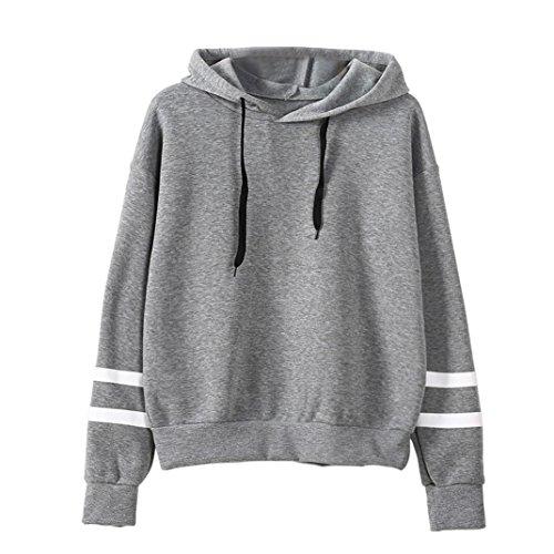 Womens Sleeve Hoodie Sweatshirt Pullover