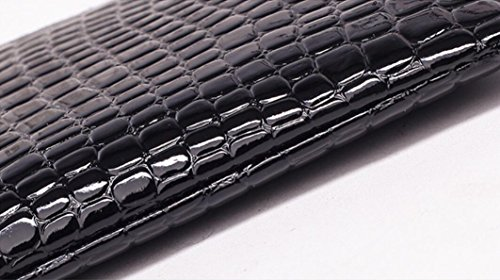 Fashion Black Women Pu Wedding for Party Zipper Bag Elegant Events Leather Handbag Huihuger Bag Portable 5qd6A15w