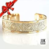 Gold Cuff Bracelet, Textured Gold Cuff, Packaged and Ready for Giving, Handmade in Israel