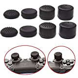 Hovisi-Joystick-Silicone-Analog-Thumb-Stick-Grips-Cap-Cover-4-Pairs8pcs-with-2pcs-LED-Light-Bar-Decal-Stickers-for-PS4-ControllersXBOX360XBOX-ONEPS2PS3