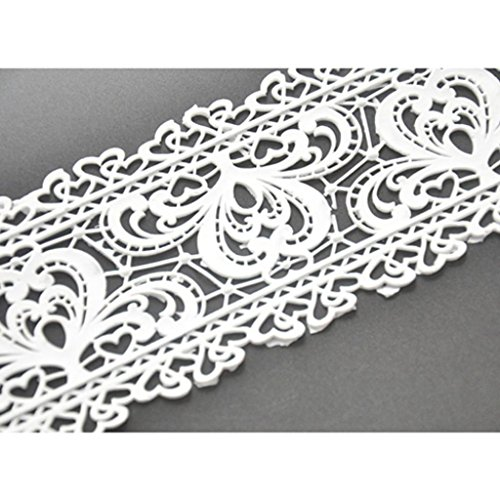 FOUR-C Fondant Cake Lace Mat Silicone Cake Mold Decoration for Cake Baking Color Pink