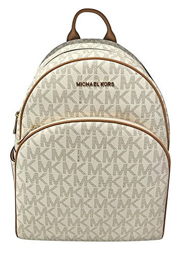 MICHAEL Michael Kors Abbey Jet Set Large Leather Backpack (Vanilla) from Michael Kors