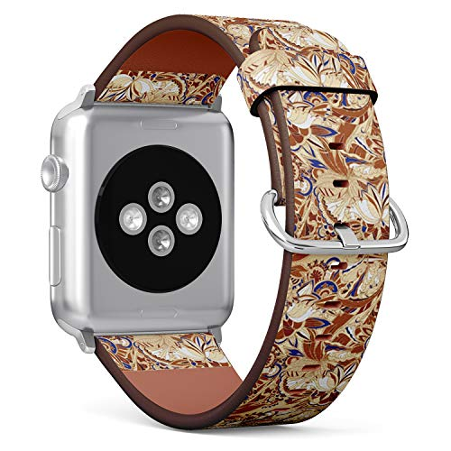 [ Compatible Small Apple Watch 38mm / 40 mm ] Replacement Leather Band Bracelet Strap Wristband Accessory // Batik Exotic