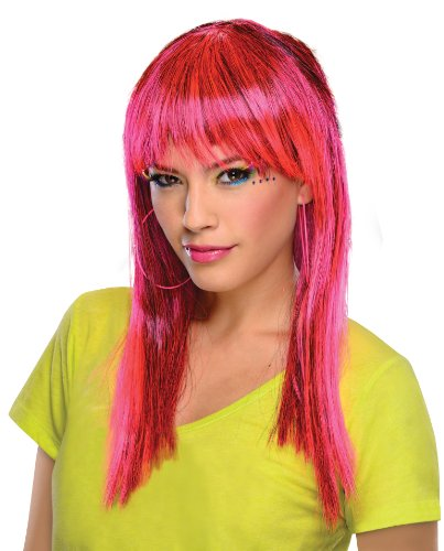 Rubie's Glamorous Wig, Neon Pink, One Size