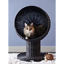 The Refined Feline Kitty Ball Bed, Espresso