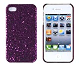 Dark Purple Sparkles Case for Apple iPhone 4, 4S (AT&T, Verizon, Sprint)