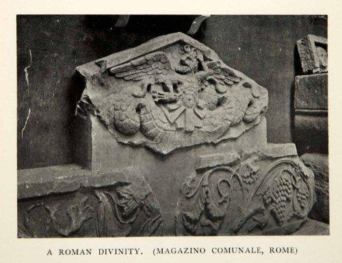 1905 Print Roman Divinity Magazino Comunale Rome Municipal Warehouse Godess God - Original Halftone (Roman Godess)